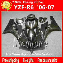 Discount motorcycle r6 body kit - Free 7 gifts Custom ABS fairing kit for YAMAHA YZF R6 2006 2007 YZF-R6 YZF R6 06 07 YZF600R fairings g3l new all black m