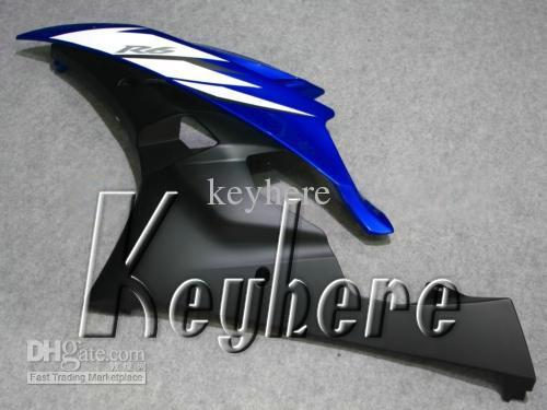 Grátis 7 presentes custom carenagem kit de corrida para YAMAHA YZFR6 2006 2007 YZF R6 YZF-R6 06 07 carenagens g4k novo alto grau azul preto peças da motocicleta