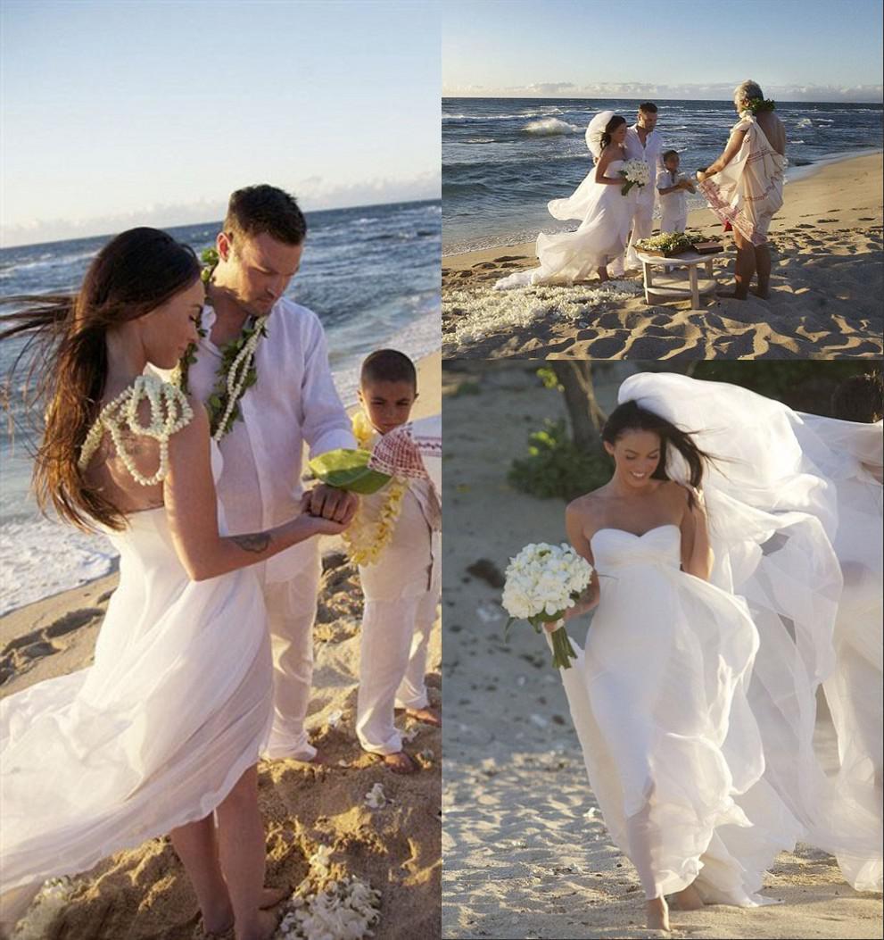 Megan Wedding Dress: Discount ZSD 006 Megan Fox!Beautiful And Relaxed