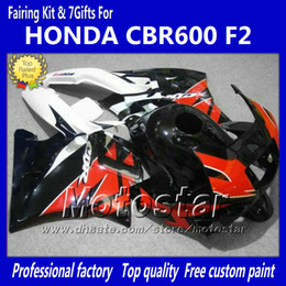 honda cbr f2 red fairings NZ - Bodywork fairings for HONDA CBR600 F2 91 92 93 94 CBR600F2 1991 1992 1993 1994 CBR 600 red black custom fairings kit jj38