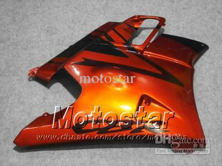 Bodywork fairings for HONDA CBR600 F2 91 92 93 94 CBR600F2 1991 1992 1993 1994 CBR 600 orange red black custom fairings jj39