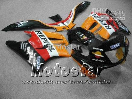 carenados de carrocería establecidos para HONDA CBR600F3 95 96 CBR600 F3 1995 1996 CBR 600 F3 95 96 naranja Repjol carenados personalizados