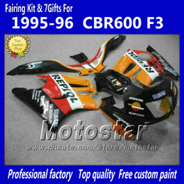 1996 Honda NZ - Bodywork fairings set for HONDA CBR600F3 95 96 CBR600 F3 1995 1996 CBR 600 F3 95 96 orange Repjol custom fairings