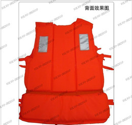 Wholesale Life Jacket Orange - LLFA1053 Bulk Whoesale Professional Orange Foam Swimming Life Jacket with Whistle Free Shipping Drop shipping