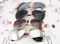 Wholesale Cheap Oval Frames - Reflective Lens mens sunglasses fashion style designer cheap metal sunglasses brand new retro promotion eyeglasses 4 style Metal Sunglasses