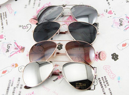Wholesale Cheap Eyeglasses Frames Wholesale - Reflective Lens mens sunglasses fashion style designer cheap metal sunglasses brand new retro promotion eyeglasses 4 style Metal Sunglasses
