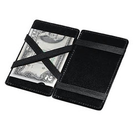 Wholesale Breast Holder - New 200 pcs Magic Wallet Credit Business Card Ticket Cash Holder PU Leather Magic Credit Card ID Case Purse storage bag