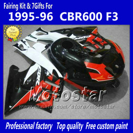 1996 Honda Canada - Bodywork fairings for HONDA CBR600F3 95 96 CBR600 F3 1995 1996 CBR 600 F3 95 96 gossy red black custom fairings set jj45
