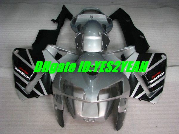 Custom Injection mold for honda CBR600RR fairing kit CBR 600RR F5 2005 2006 05 06 cbr600rr Silver black fairings body kit HIA59