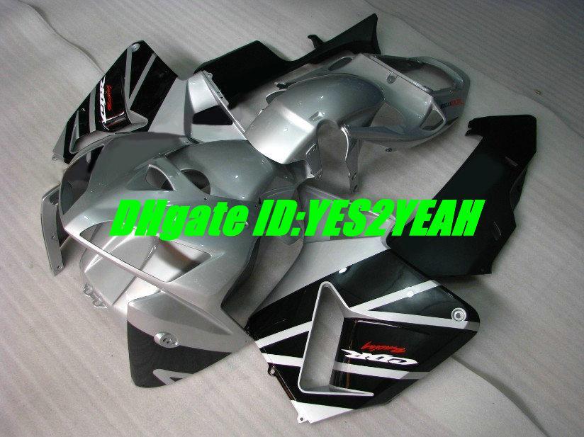Injection Fairings bodywork for honda CBR600RR fairing kit CBR 600RR F5 2005 2006 05 06 cbr600rr Silver black fairings body kit HIA59
