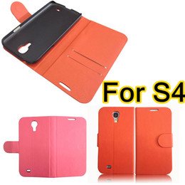 Wholesale Galaxy S4 Case Slim Wallet - For S4 Fold Case Wallet Style Slim PU Leather Flip Case Cover With Credit Card Holder For Samsung Galaxy S4 S 4 i9500