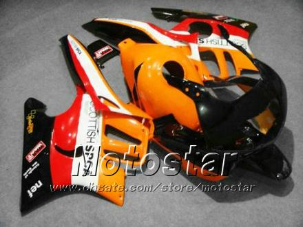 Personalizza il kit carene carenature personalizzate HONDA CBR600 F3 97 98 CBR 600 F3 1997 1998 CBR 600F3 97 98 arancione nero