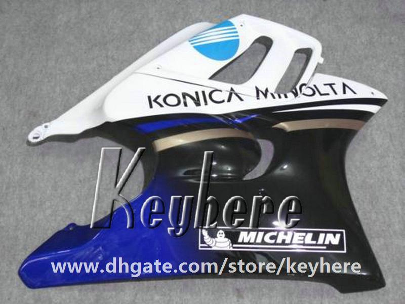 Gratis 7 geschenken ABS Plastic Fairing Kit voor HONDA CBR600 95 96 CBR 600 1995 1996 F3 Backings G4C Hoogwaardige Konica Blauw Wit Motorfiets Onderdelen