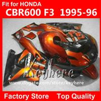 ingrosso corredi di messa a punto per motociclette-7 regali carenatura in plastica ABS per Honda CBR 600 95 96 CBR600 1995 1996 F3 carene G5C parti di moto nero rosso di alta qualità