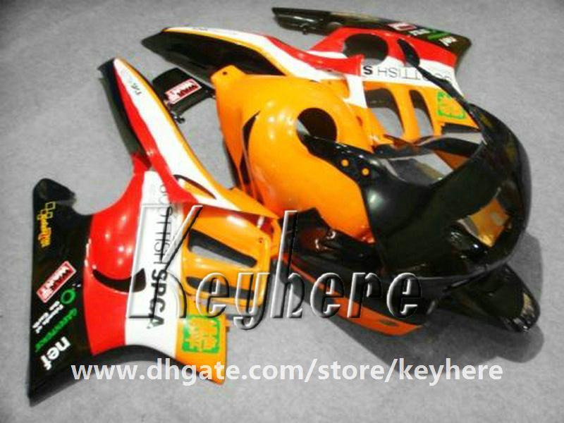 Livre 7 presentes ABS kit de carenagem de Plástico para Honda CBR600 97 98 CBR 600 1997 1998 F3 carenagens G1C novo alto grau de peças de motocicleta laranja preto