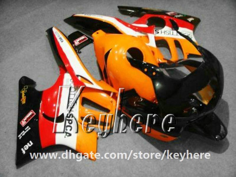 Gratis 7 geschenken ABS Plastic Fairing Kit voor HONDA CBR600 97 98 CBR 600 1997 1998 F3 Backings G1C Nieuwe Hoogwaardige Oranje Zwarte Motorfiets Onderdelen