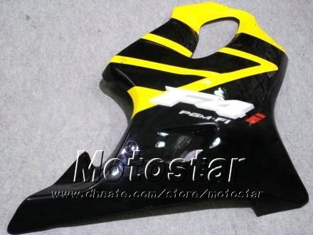Personalizar carroçaria carenagens para HONDA CBR600F4i 01 02 03 CBR600 F4i CBR 600 F4i 2001 2002 2003 carenagem de motocicleta barato amarelo preto