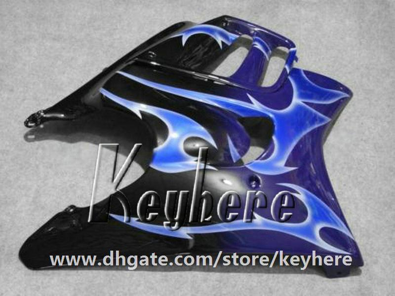 Kit de carénage en plastique ABS gratuit 7 pour Honda CBR 600 97 98 CBR600 1997 1998 F3 carénages G4C nouvelles flammes de haute qualité bleu moto pièces