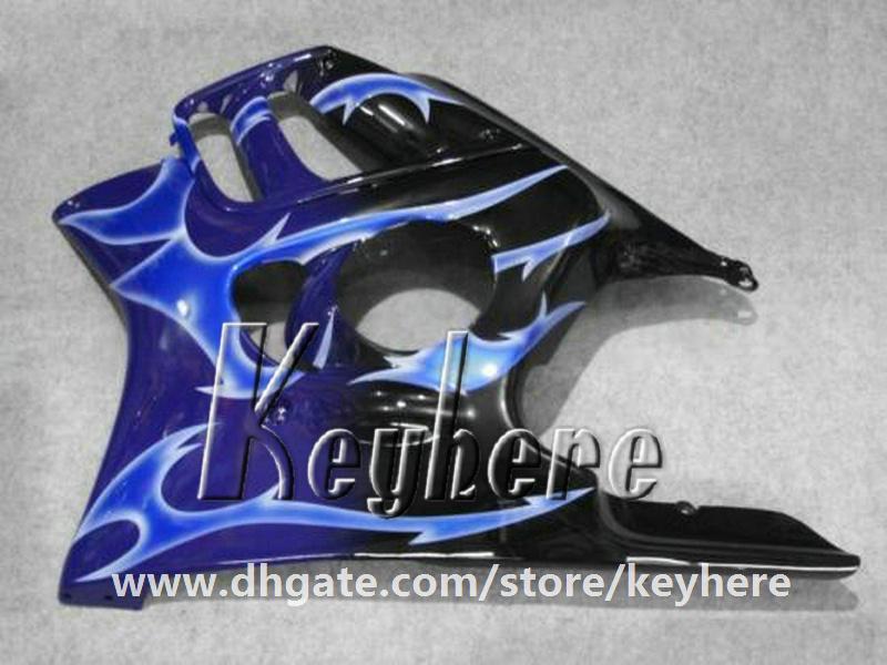 7 regali carenatura in plastica ABS Honda CBR 600 97 98 CBR600 1997 1998 F3 carene G4C nuove fiamme blu di alta qualità