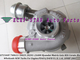Turbocompresor gt1544v online-GT1544V 740611 740611-5003S 782403 28201-2A400 Turbo Turbocompresor para HYUNDAI Matrix Getz para KIA Cerato Rio Pdride 1.5L CRDi D4FA D4FB 1.6L
