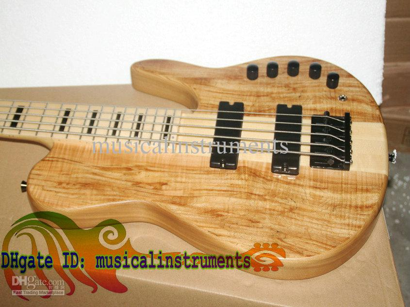 Custom 5 Strings Electric Bass Guitar one piece wood NEW very nice Electric BASS OEM Guitar High power electronic amplification