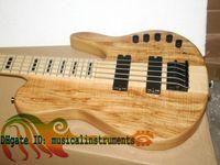 ingrosso chitarre molto elettriche-Custom 5 corde basso elettrico un pezzo di legno NUOVO molto bello Electric BASS OEM Guitar Amplificazione elettronica ad alta potenza
