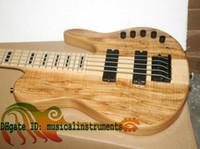 oem bajo al por mayor-Custom 5 cuerdas guitarra eléctrica bajo una sola pieza de madera NUEVO muy agradable eléctrica BASS OEM guitarra amplificación electrónica de alta potencia