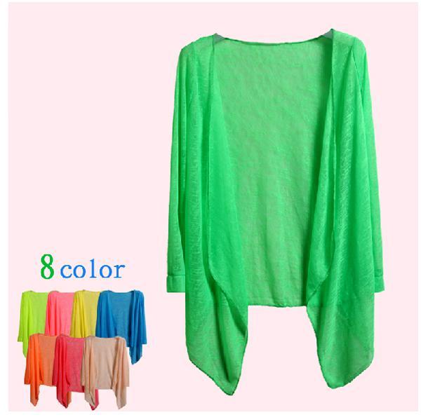 Verão barato Blusas Protetor Solar Lantejoulas Transparente Proteção Solar Roupas de Algodão Cor Mix Previna bask em roupas