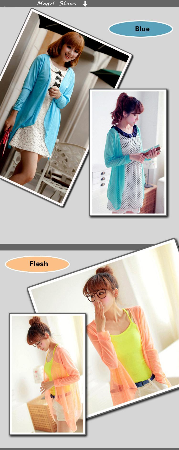 Summer Sun Blusas lentejuelas Transparent Sun Protection Ropa de algodón Color de la mezcla Prevenir Bask en Ropa