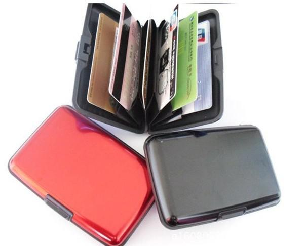 Black Metal PU Pocket Business ID Credit Card Wallet Holder Waterproof Case Box