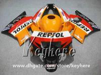 cbr repsol fairings toptan satış-Honda CBR 600 91 için ücretsiz 7 hediyeler kaporta kiti 92 93 94 CBR600 1991 1992 1993 1994 F2 fairings G2C yüksek dereceli REPSOL turuncu motosiklet parçaları