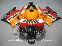 ingrosso parti di carena motociclistica honda-Kit carenatura 7 regali per Honda CBR 600 91 92 93 94 CBR600 1991 1992 1993 1994 F2 carene G2C parti di moto arancione REPSOL di alta qualità