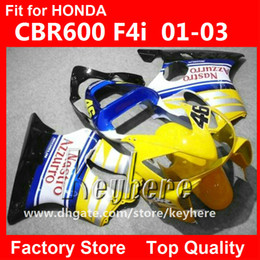 $enCountryForm.capitalKeyWord Australia - Free 7 gifts Custom race fairing kit for Honda CBR600 2001 2002 2003 CBR 600 01 02 03 F4I fairings G1e yellow black motorcycle body work