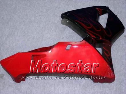 Honda CBR600RR F5 2003 2004 CBR 600 RR 03 04 CBR600 600RR 붉은 불꽃 검은 공정 세트 KK13