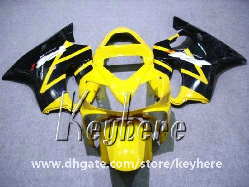 Free 7 gifts Kit de carenagem personalizado para Honda CBR600 2001 2002 2003 CBR 600 01 02 03 F4I carenagens G2e amarelo preto body body body