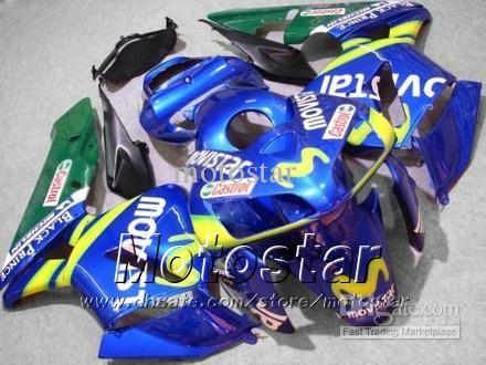 7 선물 페어링 Honda CBR600RR F5 2005 2006 CBR 600 RR 05 06 CBR600 600RR 블루 Movistar 오토바이 페어링 KK18