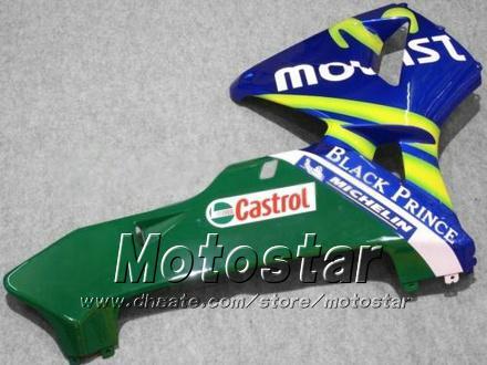 7 Cadeaux de cadençons Bodykit pour Honda CBR600RR F5 2006 2006 CBR 600 RR 05 06 CBR600 600RR Blue MOVISTAR MOTOCYCYCLE CABERING KK18