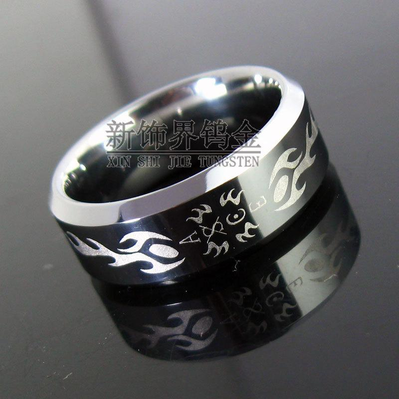 New Decoration Sector Tungsten Rings Gold Ring Anime One Piece Ace ...