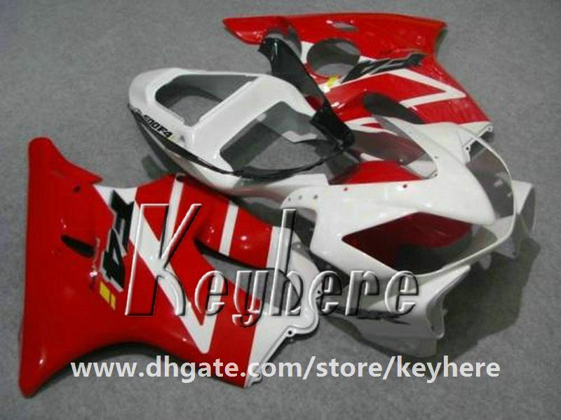 7 regali personalizzati Kit carena da gara Honda CBR-600 2001 2002 2003 CBR600 CBRF4I 01 02 03 F4I carene G4f NUOVE parti moto bianche rosse