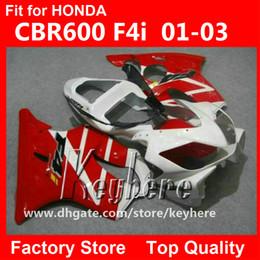 $enCountryForm.capitalKeyWord Canada - Free 7 gifts Custom race fairing kit for Honda CBR-600 2001 2002 2003 CBR600 CBRF4I 01 02 03 F4I fairings G4f NEW red white motorcycle parts