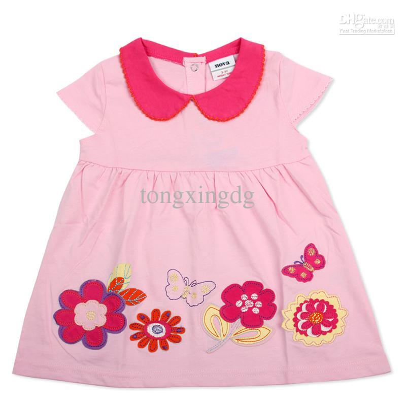 2018 H2829 Blue Pink Nova 18m 6y Baby Girls Polo Dress Princess