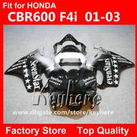 vücut özel cbr toptan satış-Honda CBR600 için ücretsiz 7 hediyeler Özel yarış kaporta kiti 2001 2002 2003 CBR 600 01 02 03 F4I fairings G7e yeni yedi yıldız motosiklet vücut ...