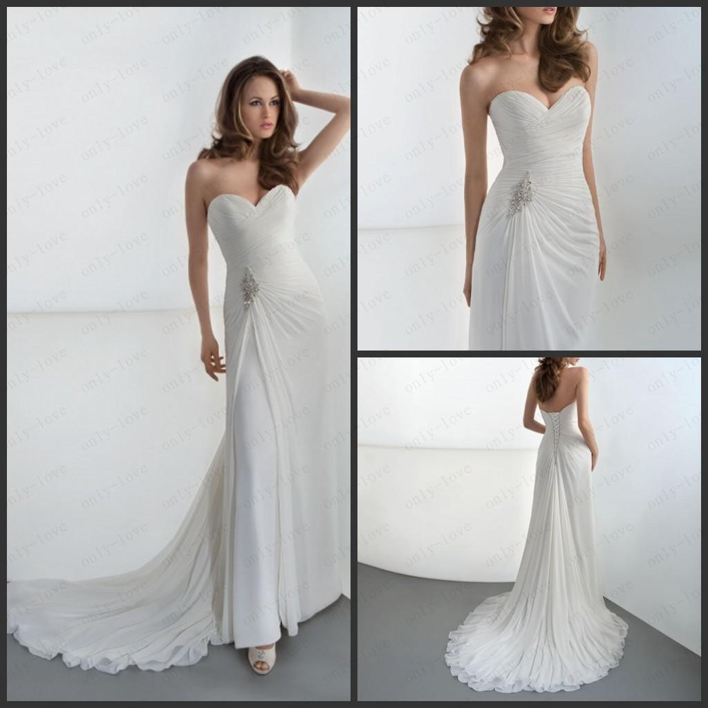 Cheap mermaid chiffon wedding dresses sweetheart sleeveless cheap mermaid chiffon wedding dresses sweetheart sleeveless ruffles beads crystal sequin corset back bridal dresses demetrios dr181 sexy mermaid dresses ombrellifo Image collections