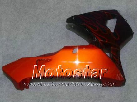 BUIKERS BODYKIT VOOR HONDA CBR600RR F5 2005 2006 CBR 600 RR 05 06 CBR600 600RR Oranje Vlam in Black Motorcycle Fairing KK38