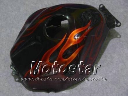 Kit de carenados para HONDA CBR600RR F5 2005 2006 CBR 600 RR 05 06 CBR600 600RR llama naranja en negro carenado moto kk38