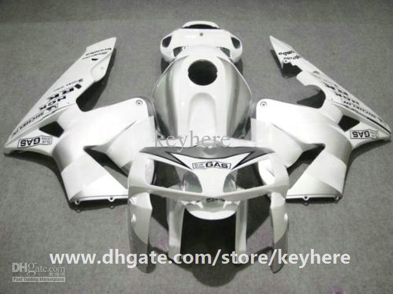 Grátis 7 presentes injeção carenagem kit para Honda CBR600RR 2005 2006 CBR 600RR 05 06 F5 carenagens G4e alto grau puro branco motocicleta corpo trabalho