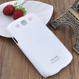 Wholesale Hard Back Cover S3 - 1 Pcs white Plastic Hard Case Back Cover For Samsung I9300 S3 #23356