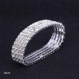 $enCountryForm.capitalKeyWord Canada - 4 row Shiny Rhinestone Elastic Lady Bangle Girl Stretch Crystal Bangle Bracelet Fit Party Prom Wedding Engagement Bridal Jewelry Gift ZAU4*5
