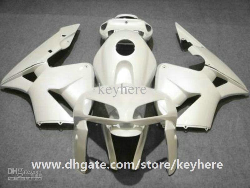 Gratis 7 regalos kit de carenado de inyección para Honda CBR-600RR 2005 2006 CBR600RR 05 06 F5 carenados G4h venta caliente todo puro trabajo de carrocería de la motocicleta blanca