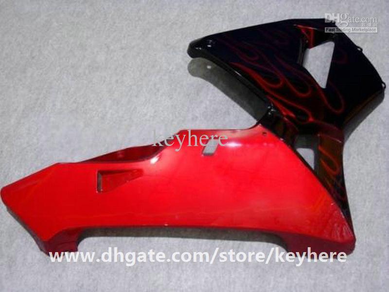 GRATIS 7 Geschenken Injectie Keuken Kit voor HONDA CBR600RR 2005 2006 CBR 600RR 05 06 F5 BIJGELIJKHEID G5H Nieuwe rode vlammen in zwart Motorfiets Body Work